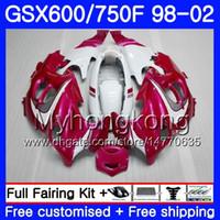 Corps Pour SUZUKI rose blanc brillant GSXF 750 600 GSXF750 1998 1999 2000 2001 2002 292HM.51 GSX 600F 750F KATANA GSXF600 98 99 00 01 02 Carénage