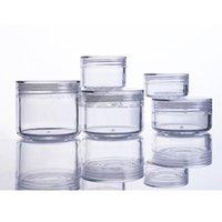 20pcs Plástico Creme Jar Cosmetic Pots Container recarregáveis Limpar Uso Diário Eyeshadow Caixa de armazenamento para Glitters 3g 5g 10g 15g 20g