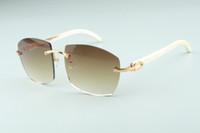 Sıcak yeni güneş gözlüğü doğal yabani beyaz manda boynuzu tapınaklar, Fabrika doğrudan en kaliteli moda unisex gözlük A4189706-7.