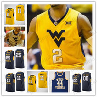 dfb495498c58 New Arrival. Custom 2 Jevon Carter West Virginia Mountaineers Basketball ...