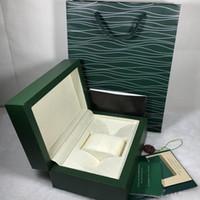 Watch Boxen Hüllen Box Herren Uhr Holzkiste Original innere Äußere Frauen Uhren Boxen Accessori Papiere Geschenktüte Armbanduhren Box Uhren Fall