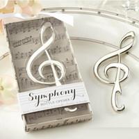 """Nouvelle Arrivée """"Symphony"""" Chrome Music note bouteille ouvre-bouteille ouvre-vin mariage mariée douche fête préférée Livraison gratuite"""