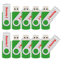 Grün Masse 10PCS Metall Rotating USB 2.0 Flash Drive Pen Drive Thumb Memory Stick 64M 128M 256M 512M 1G 2G 4G 8G 16G 32G für PC Laptop-Mac