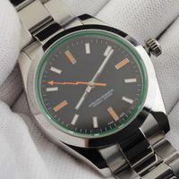 U1 40 milímetros de aço inoxidável dos homens cinta relógios automático movimento mecânico de safira 5ATM vidro de relógio à prova d'água