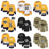 Hockey sur glace Ryan Ellis Jersey Prédateurs de Nashville Subban du PK Craig Smith Ryan Johansen Mattias Ekholm Colton Sissons Fisher Diamond Personnalisé
