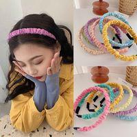 Ruoshui Frau Mädchen Süßigkeiten Farbe Haarband Lünette Damen Headwear Stirnband Haar Ornamente Mode Turban Hairwäsche