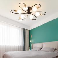 Nordique Design E27 noir blanc LED-Deckenleuchte für Loft-Küche