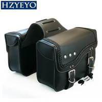 1 زوج الأسود فو جلدية للدراجات النارية أداة حقيبة الأمتعة اخراج التخزين جذع مع مساحة واسعة لتخزين الدراجات النارية و الدراجات العالمي، D860