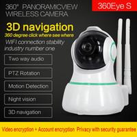 Wifi remoto 1080p Inicio Seguridad IP Cámara IP Dos vías Audio Inalámbrico Mini Cámara Visión nocturna CCTV WIFI Cámara Monitor de bebé 360eyes