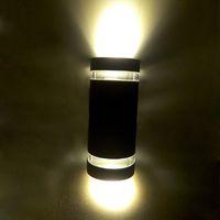 Moderno LED de pared exterior de luz montado 8W Gris / Blanco / Negro color de la carrocería de aluminio Lámpara de pared AC110V, AC85-265V WL-2012 lámparas exteriores / 2 de pared