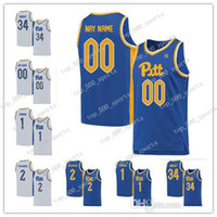 Custom Pittsburgh Panthers 2020 Pitt Baloncesto Azul Blanco Cualquier nombre Número 1 Xavier Johnson 2 Trey McGowens 24 Murphy NCAA College Jerseys