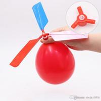 Vôo do balão Helicóptero balão DIY avião Toy crianças Toy transporte livre auto-combinadas Balão Helicóptero 2018 venda quente