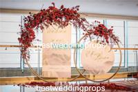 Sıcak satış haber tarzı Uzun boylu altın metal trompet çiçek vazo düğün merkezinde dekorasyon için best0588