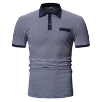 Male Polo Shirt Men Business Polos Casual Tops Short Sleeve ...