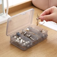 Double Layer 10 Grid Jewelry Storage Boxes Packaging Case Transparent Plastic Sundries Organizer Box Wholesale