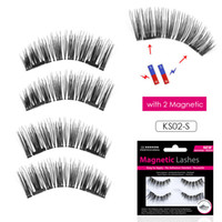 Genailish Magnetic eyelashes with 2 magnets handmade magneti...