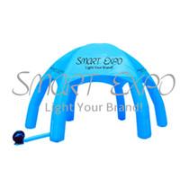 Anúncio ao ar livre 6 pernas Tenda de aranha Dossel inflável com 6 pernas tenda de aranha impressão personalizado Base ventilador w4 x h3.5 m