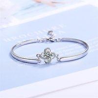 Charme pulseiras zg elegante 925 esterlina prata feminina pulseira simples conjunto pequeno design fresco vento frio