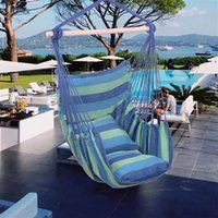 Hammock Chairs Hanging Rope Chair Swing Chair with Pillows H...