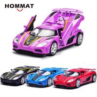 HOMMAT Simulation 1.32 Koenigsegg Agera R Supercar Sports Model Car Alloy Diecast Toy Vehicle Auto-Modell Diecast Kollektion Geschenk Y200109