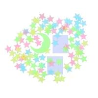 256PCS / комплект 3D Glow Stars / Moon / Метеоры / бабочка наклейки Baby Дети украшения комнате потолок Яркий Luminous стены наклейки B1