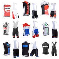 2019 Equipo gigante Ciclismo Sin mangas Jersey Jersey Chaleco Summer Ropa de secado rápido Hombres Deportes al aire libre Ropa de ciclismo Pantalones cortos BIB Set K072503