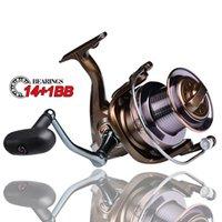 Marke 14 + 1BB Bearing Angelrolle 30kg Max Drag Spinning Reel 9000-10000-12000 Übersetzungsverhältnis 4,0: 1 Anti-Korrosions-Angelrolle