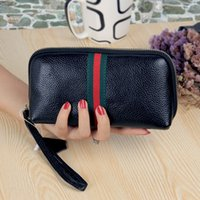 2019 Women wallet Standard Wallets Wallets Soft cowhide Women billfold Zero purse Small Monochromatic Wallets Card bag Wholesale Long WT012