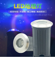 (10 pz / lotto) 3 W Rotonda LED Underground Lamp Lampade Da Terra Path Garden Path Sepolto Illuminazione DC12V O AC85-265 V IP67 All'ingrosso