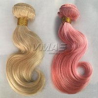 Body Wave Pink 613 blonde Color Brazilian Human Hair Weft 3p...
