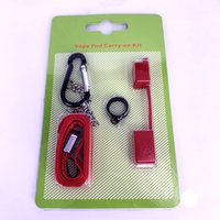Carry COCO Vape Pod no anel chave de silicone caso Kit Lanyard contra pó Caps Para Ecig fumaça Vape Pen Titular vape pod