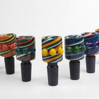 Berauschende Glasschale Slides Glasschale für Bongs mit Innengewinde 14mm 14.4mm Perücke Wag Schalen für Glaswasserbongs