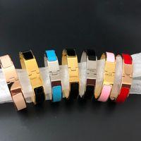 12MM صفعة braceletsbangles معصمه المينا سوار الفضة الذهب مشبك أعلى جودة أساور للنساء (لا مربع)