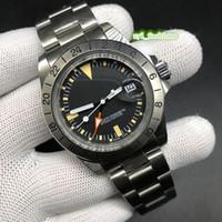 Автоматические механические спортивные часы Ретро мужские деловые наручные часы Серебряный корпус из нержавеющей стали Часы Black Face Watch