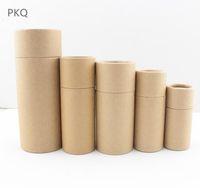 10/20/30/50/100 ml botellas de aceite caja de embalaje Kraft tubo de cartón de embalaje de papel para cuentagotas perfume de la caja labios redonda botella