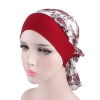 Women's Vintage Floral Turban Hat Cotton Stretch Hair Band Hat Print Pirate Style Muslims Chemo Cap