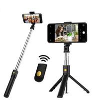 جديد 3 في 1 بلوتوث اللاسلكية selfie عصا ل iphone / android / huawei طوي المحمولة monopod مصراع remote القابلة للتمديد ترايبود (دروبشيبينغ