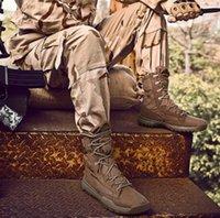 Homens grandes ao ar livre Moda Alto Exército Desgaste Especial Forças Especiais Botas Táticas Antiskid Grande Deserto Combate Tênis Treinamento Sneaker Sapatilhas Yakuda