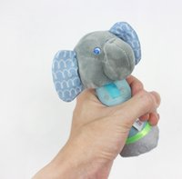 Caliente feliz Elefante 15 cm barra de la mano Barra de peluche de peluche de juguete de juguete elefante Animal agarre la mano Puzzle educación Títere niños