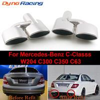 Sıcak! Mercedes C-Serisi C63 C65 W204 Egzoz Susturucu İpucu Paslanmaz Çelik Boru İçin