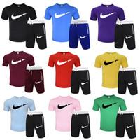 New Tracksuit Moda Abbigliamento Abbigliamento Abbigliamento Abbigliamento Ambientazione sportiva Due pezzi All Cotton Fleece Thick T-shirt + Pantaloni corti Vestito sportivo