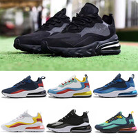 Nike Air Max 270 React reagire scarpe da corsa da uomo di alta qualità BAUHAUS OPTICAL triple black fashion mens trainer sneaker sportive traspiranti taglia 36-45