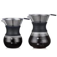 200ml의-400ml의 스테인레스 스틸 필터 냄비 도매 고온 내성 유리 커피 메이커 커피 주전자 에스프레소 커피 머신