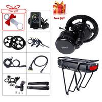 48V 750W Mid Drive Motor Bafang BBS02B elektrisches Fahrrad Umrüstsatz 17.5Ah E Bike Gepäckträger-Batterie mit Gepäckrücklicht