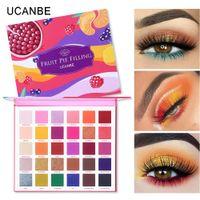 UCANBE Marka 1.5g * 30 Renkler meyve pasta Dolum Göz Farı Paleti Makyaj Seti Canlı Parlak Glitter Işıltılı Mat Shades Pigment Göz Farı