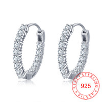 Good Quality Genuine 925 Sterling Silver Cubic Zirconia Roun...