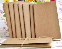 Cuaderno de cuero de vaca A5 cuaderno de notas en blanco libro vintage Papel Kraft Fácil de llevar Cuaderno pequeño Graffiti sketch Epacket Free
