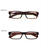 Atacado-Mincl / Gimmax quadro quadrado óculos vintage de couro preto eyeglaframe miopia óculos de vidro liso