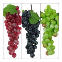 1 Yapay Meyve Üzüm Sahte Gıda Plastik Lifelike Üzüm Ev Düğün Deco