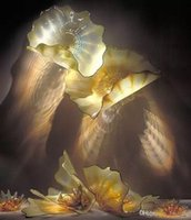 Выдувные стеклянные пластины отель и ресторан мода муранское стекло украшение стен муранское стекло искусство офисные светильники